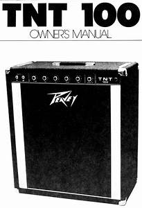 Peavey Musical Instrument Amplifier Tnt 100 User Guide