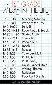 1st grade schedule a day in the grade