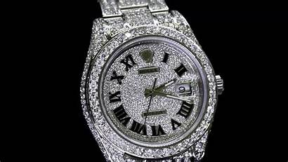 Rolex Iced Diamond Wallpapers Gold Roman Numerals