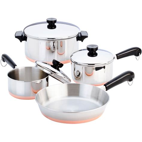 revere  pc copper clad cookware set stainless steel household shop  exchange