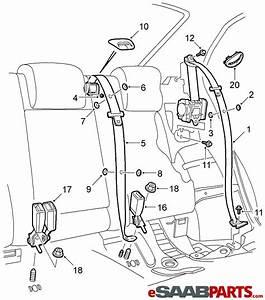 12800618  Saab Seat Belt