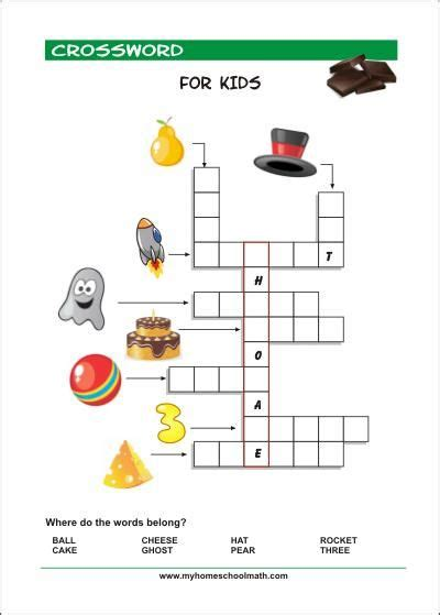 printable crossword puzzles  kids  pictures
