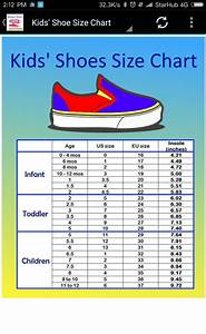 And Kids Shoe Size Chart Converter For Android Apk