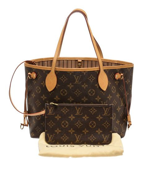 louis vuitton monogram neverfull pm tote handbag ebay