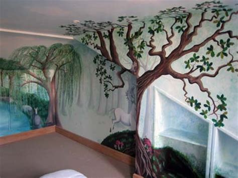 Kinderzimmer Wandgestaltung Wald by Enchanted Forest Mural Painted In A Nursery