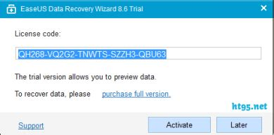 easeus data recovery wizard professional 8 license code 1