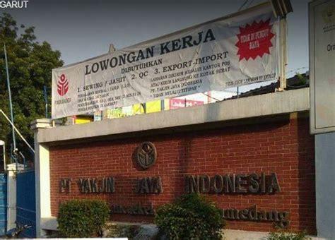 Ask anything you want to learn about loker sumedang by getting answers on askfm. Loker PT. Yakjin Jaya Indonesia - Lowongan Kerja Terbaru Indonesia 2020