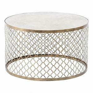 Table Basse Rose Gold : buy antique gold circular coffee table with mirrored top from fusion ~ Teatrodelosmanantiales.com Idées de Décoration