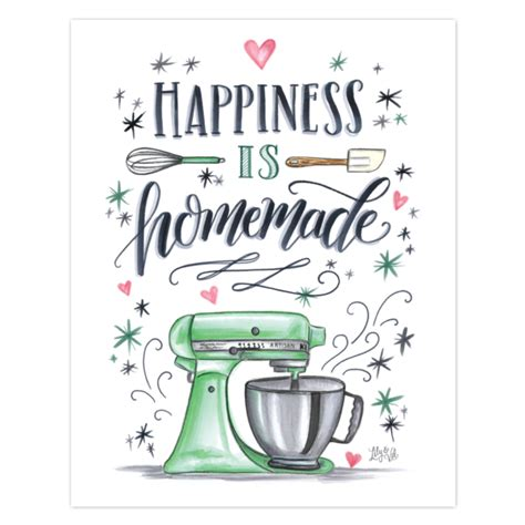 lily val happiness  homemade kitchen wall art