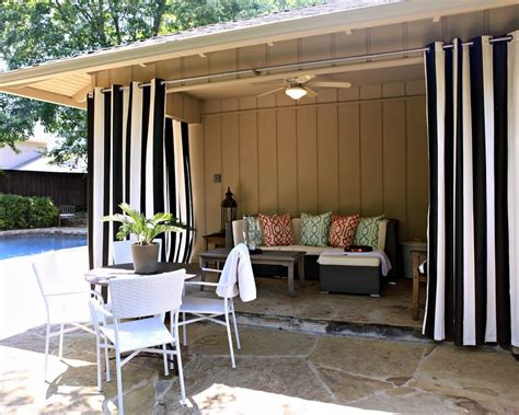 beautiful outdoor patio curtain from sunbrella front