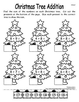 christmas math and literacy activities sler by bettis