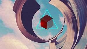 Triangle, Digital, Art, 3d, Blocks, 3d, Abstract, Abstract