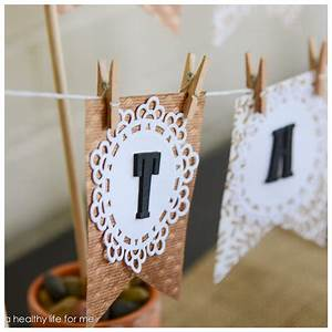 Thanksgiving DIY Banner - A Healthy Life For Me