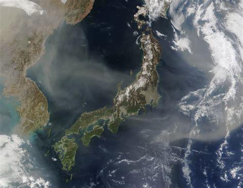 Nasa Visible Earth Dust Over Japan
