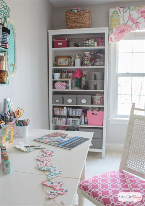 home craft room ideas feminine home office craft room tour atta says 4689