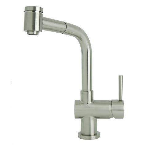 brushed nickel faucets kitchen lsh single handle pull out sprayer kitchen faucet in
