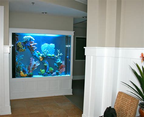 kitchen free standing islands 600 gallon marine aquarium room divider with faux reef