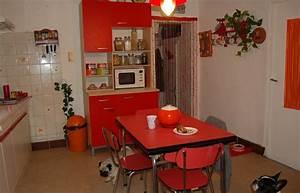 Cuisine Rouge Et Rtro Dcoration Vintage Visite