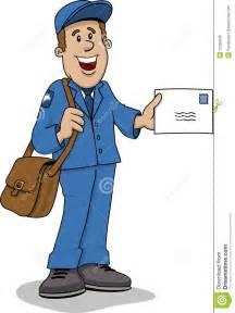 Mailman Delivering Mail Cartoon