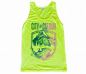 Neon Yellow Uni Festival Tank Top City and Colour