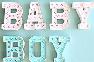 customizing marquee letters for a baby shower or nursery With baby letter