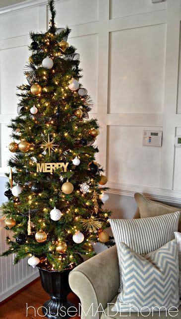 modern glam christmas home  gold christmas tree