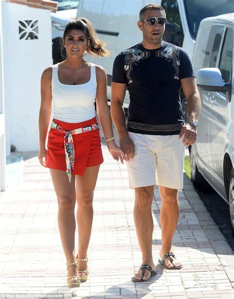 elliot wright 39 s fiancée sadie stuart is leggy in marbella