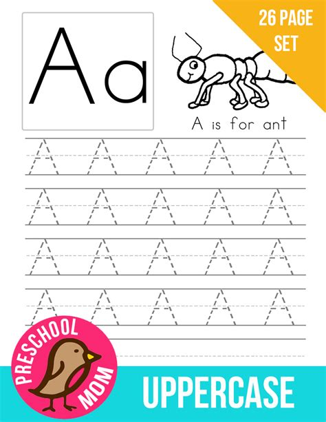 alphabet preschool printables 524 | AlphabetUppercase1