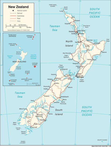 Ģeogrāfiskā karte - Jaunzēlande - 1,397 x 1,843 Pikselis ...