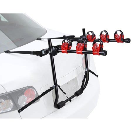 5 bike rack for suv yescom 3 bike truck mount bicycle carrier car suv foldable