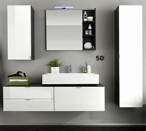 Badezimmer Hängeschrank Weiß : badm bel beach wei grau g nstig online kaufen ~ Watch28wear.com Haus und Dekorationen