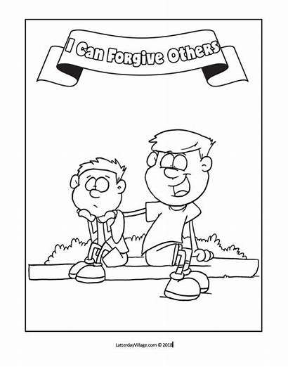 Coloring Forgiveness Pages Primary Others Forgive Lesson