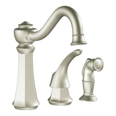 Moen Kitchen Faucet Models by Moen Vestige 1 Handle Kitchen Faucet In Classic Stainless