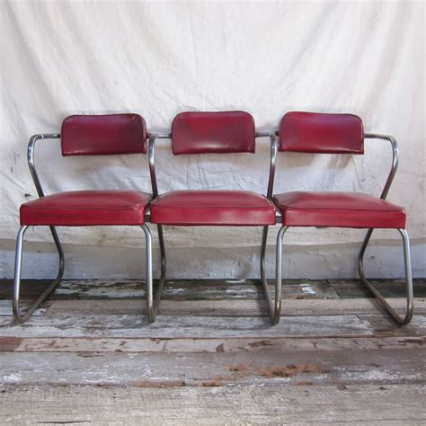 barbershop waiting chairs or retro mid century style