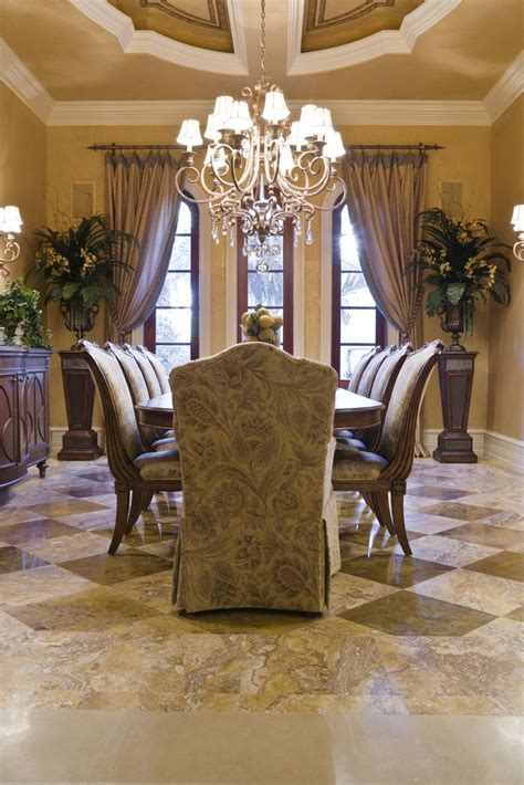 luxurious dining room amazing curtains  ceiling