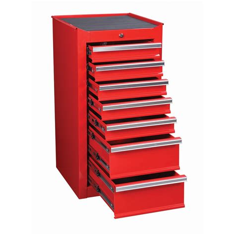 tool chest and cabinet 18 in 7 drawer glossy end cabinet for roller tool chest