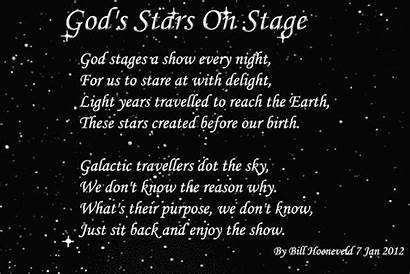 Stars Stage God Quotes Poetry Poems Poem