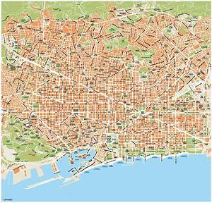 Barcelona Vector Maps Illustrator, eps files Cartes Numeriques France
