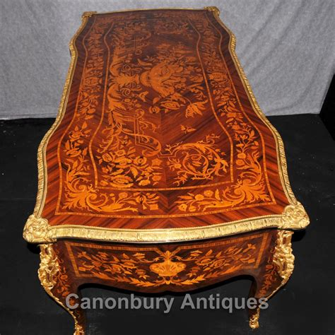 bureau louis 16 louis xvi bureau plat desk writing table marquetry