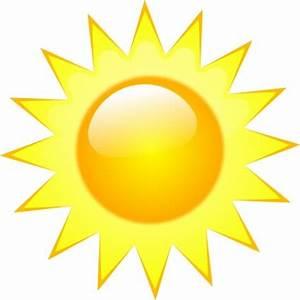 Symbole klare sonnige Wetter cliparts, kostenlose clipart