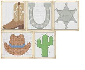 Counted Cross Stitch Pattern Cowboy Boot