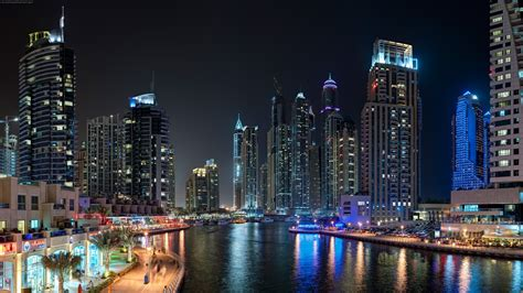 landscape dubai city night wallpapers hd desktop