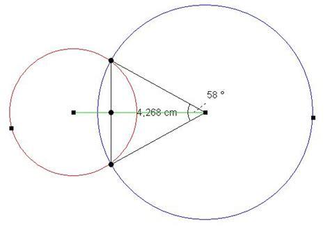 wie berechnet man den kreisschnittmengenflaecheninhalt
