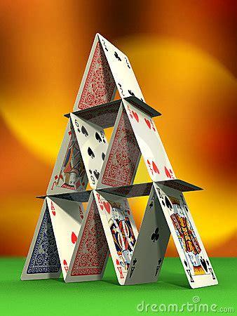 card castle stock  image