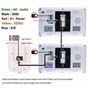 Ennio Sy819m12 7 Inch Video Door Phone Doorbell Intercom