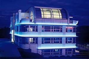 Art Deco Architektur : weis house bei nacht artdecoarchitect ~ One.caynefoto.club Haus und Dekorationen