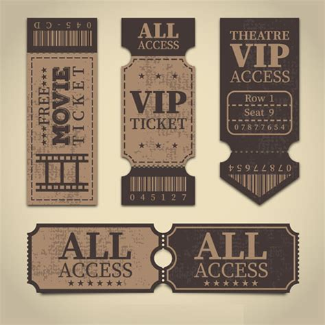 vip ticket templates   premium psd vector