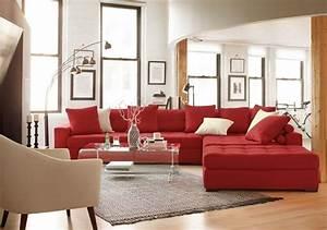 Welche Kissen Zu Rotem Sofa : faszinierendes wohnzimmer einrichten hier finden sie ~ Michelbontemps.com Haus und Dekorationen