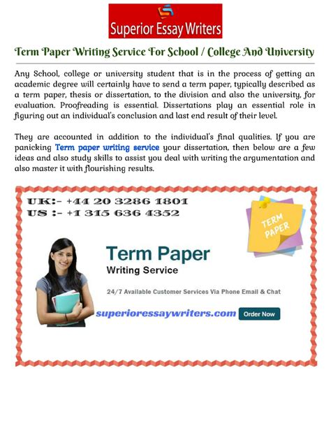 Paper Writing Service College by Term Paper Writing Service For School College And