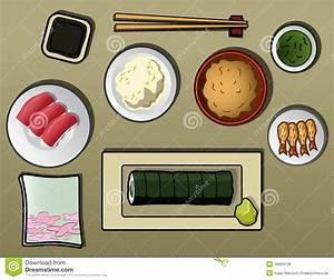 Traditional Japanese Dinner Stock Vector - Image: 18934138